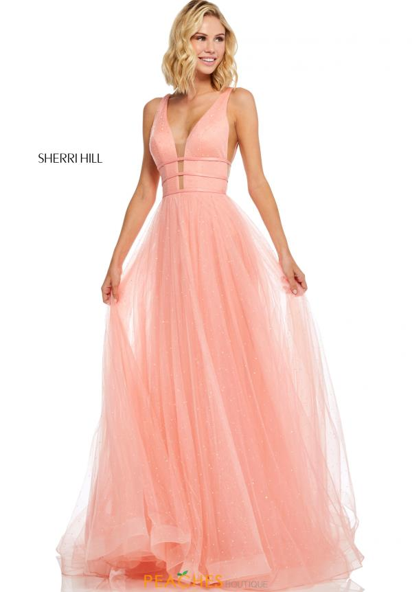 Sherri Hill V- Neckline A Line Dress 52737