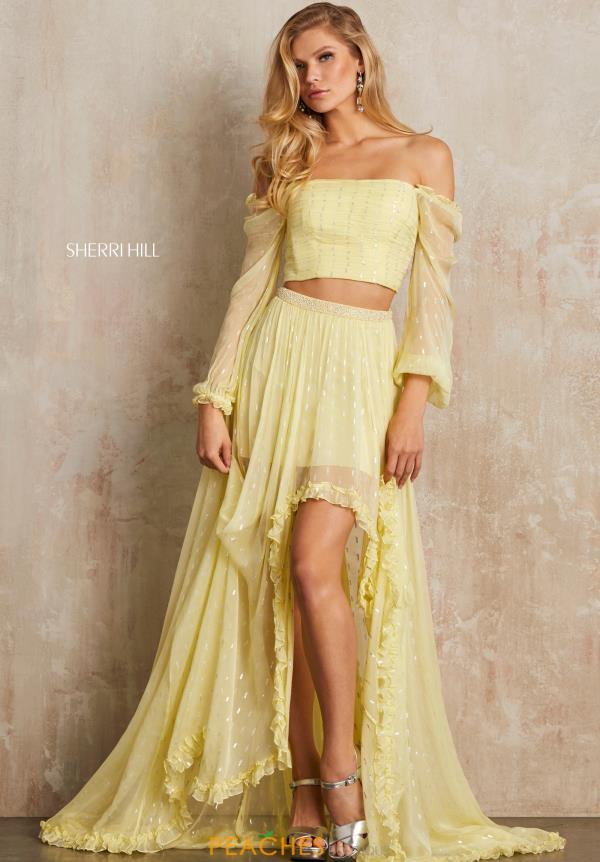 Sherri Hill Off the Shoulder Two Piece Dress 52756