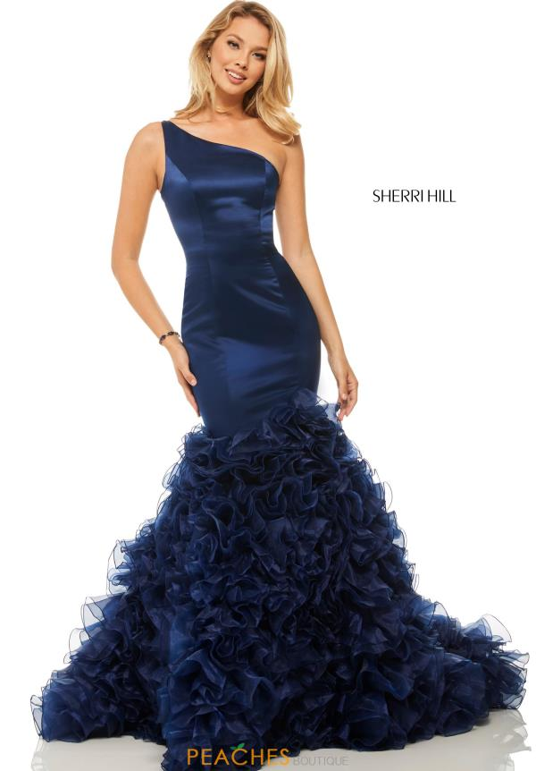 Sherri Hill One Shoulder Mermaid Dress 52775