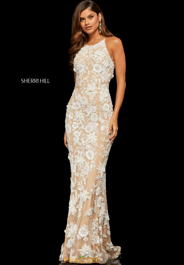 Sherri Hill Fitted Lace Dress 52778
