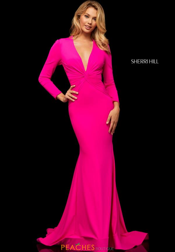 Sherri Hill Long Sleeved Fitted Dress 52788