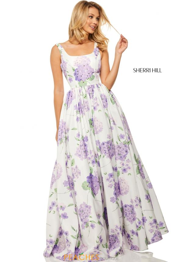 Sherri Hill Long Print Dress 52815