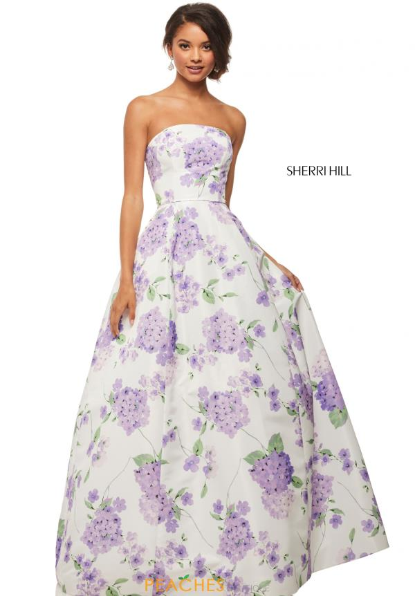 Sherri Hill Print A Line Dress 52865