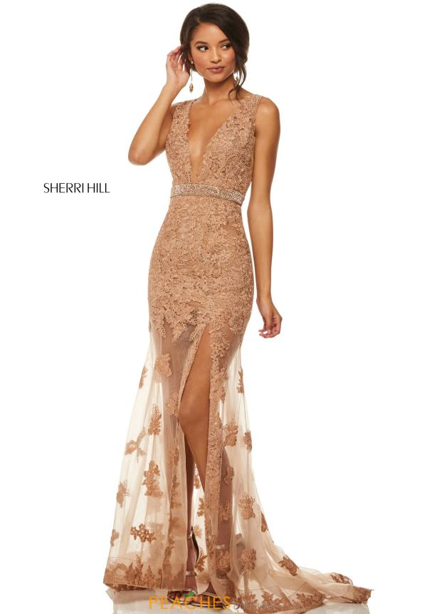 Sherri Hill Long Lace Dress 52875