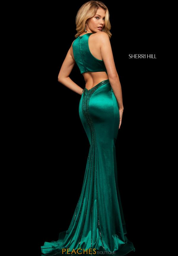 Sherri Hill Open Back Fitted Dress 52908