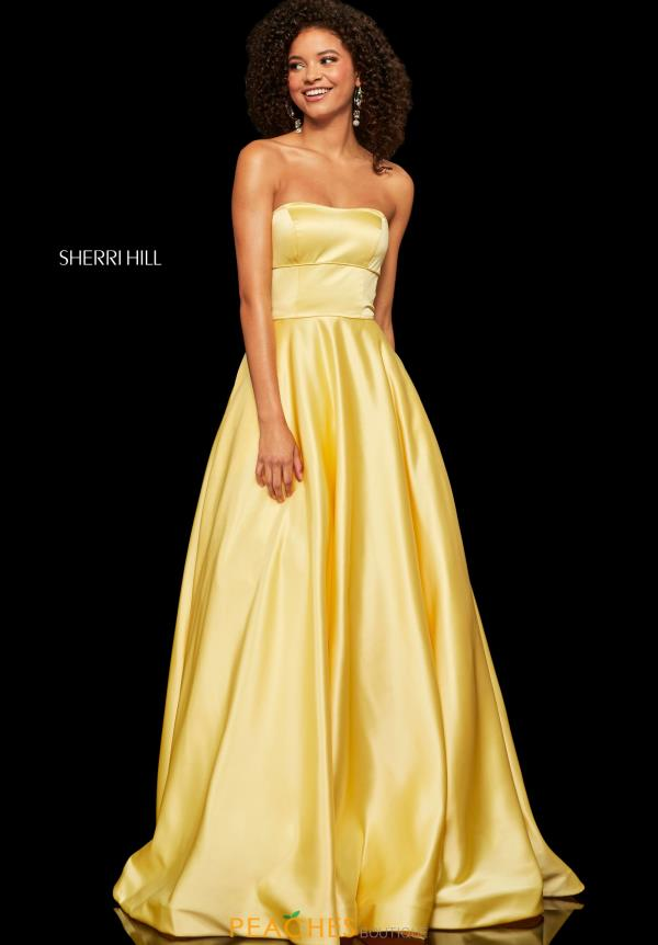 Sherri Hill Strapless A Line Dress 52924