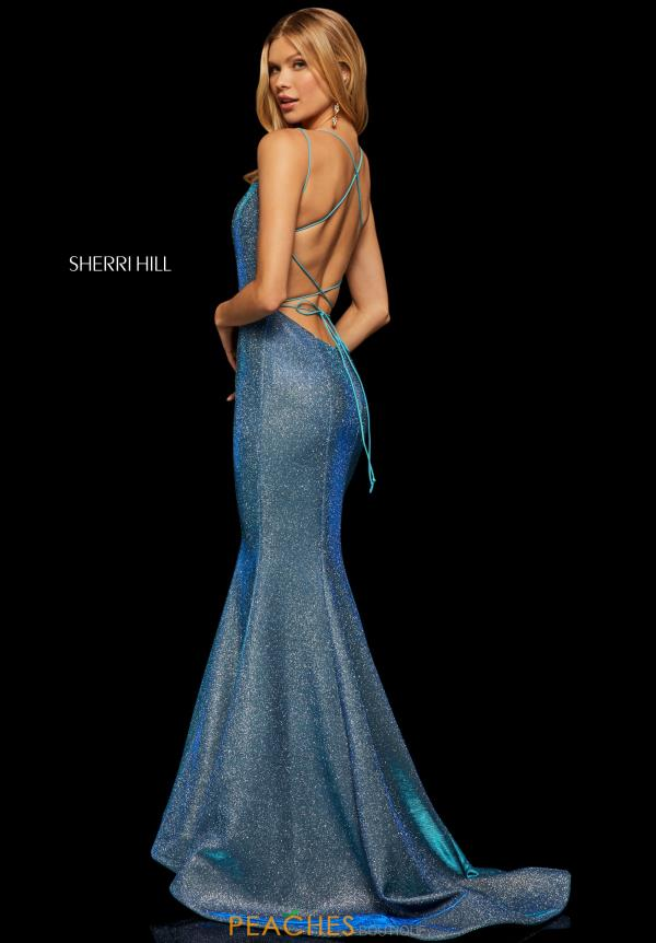 Sherri Hill Sexy Back Fitted Dress 52614