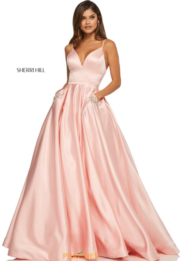 Sherri Hill V- Neckline A Line Dress 52629