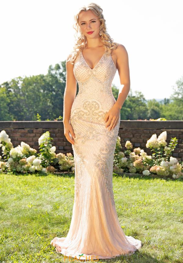 Primavera Long Fitted Prom Dress 3206