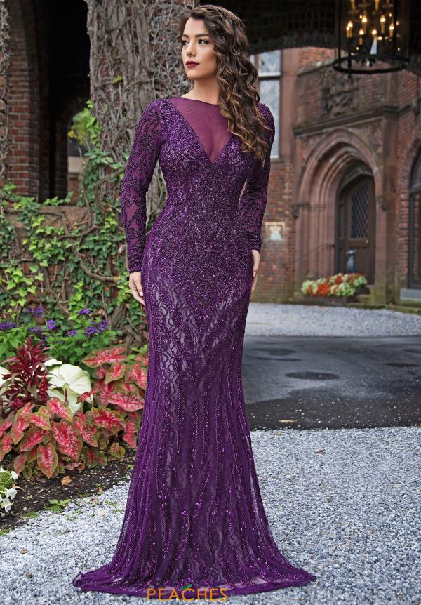 Primavera Long Sleeved Prom Dress 3192