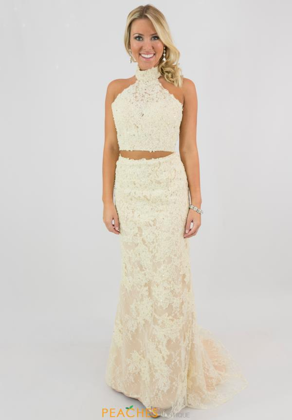 Sherri Hilll Lace Open Back Dress 51770