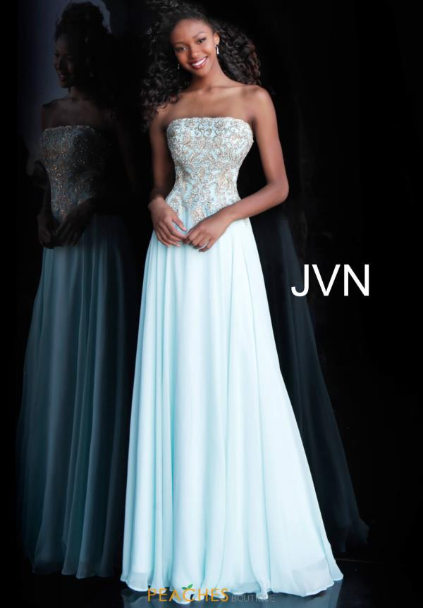 JVN by Jovani Long A Line Dress JVN63749