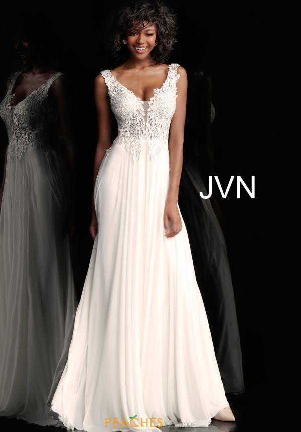 JVN by Jovani Long Chiffon Dress JVN64107