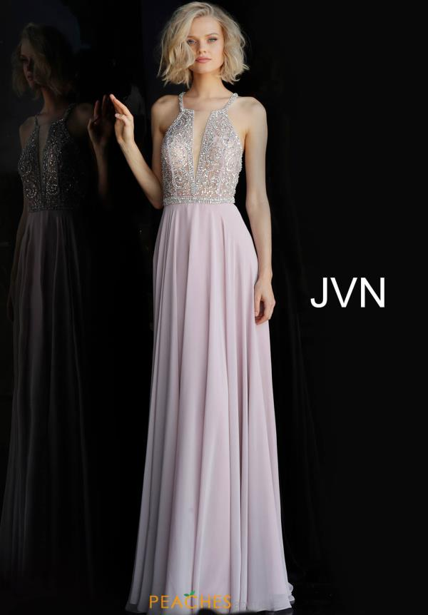 JVN by Jovani Chiffon A Line Dress JVN66050