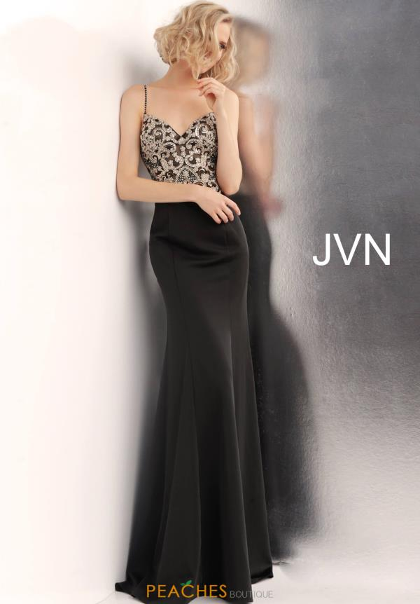 JVN by Jovani Long Beaded Dress JVN66059