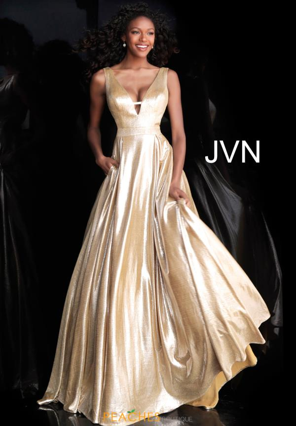 JVN by Jovani Long V- Neckline  Dress JVN66900