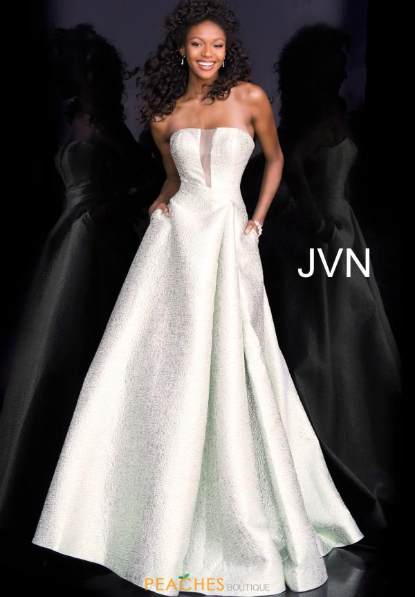 JVN by Jovani Strapless A Line Dress JVN67091