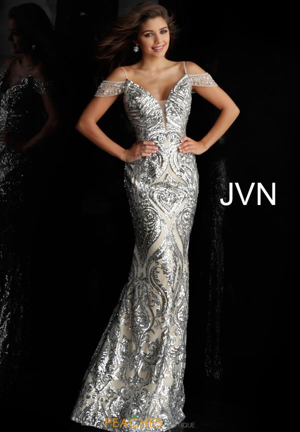 JVN by Jovani Cap Sleeved Fitted Dress JVN67256