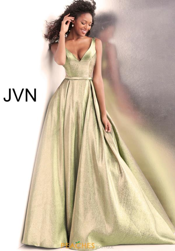 JVN by Jovani V- Neckline A Line Dress JVN67647