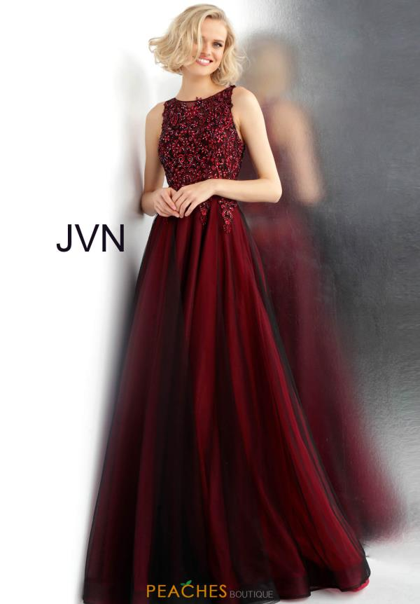JVN by Jovani Beaded A Line Dress JVN67782