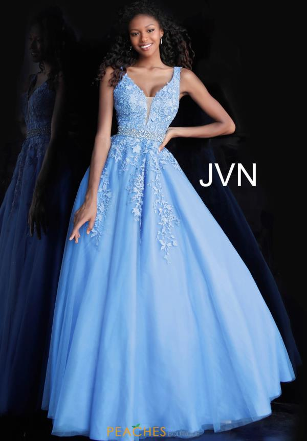 JVN by Jovani Long V- Neckline Dress JVN68258