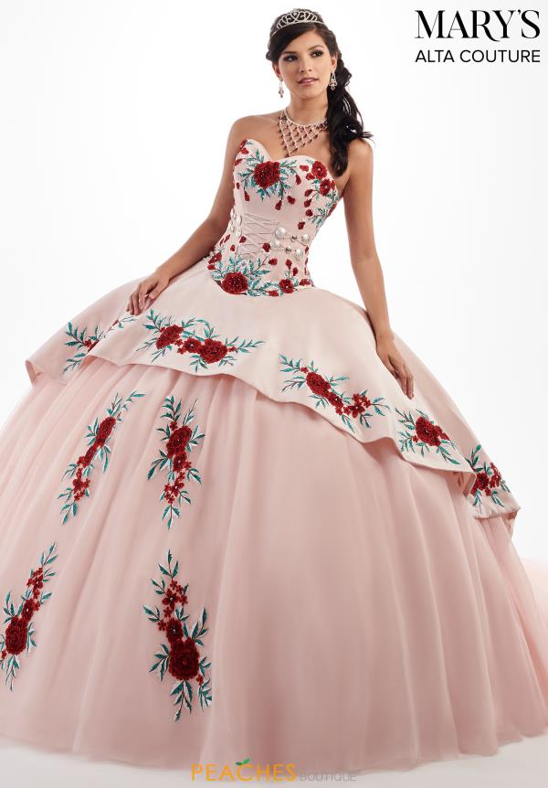 Mary's Lace Back Ball Gown MQ3024