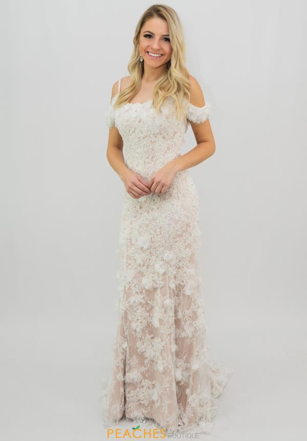 Sherri Hill Off the Shoulder Lace Dress 51767