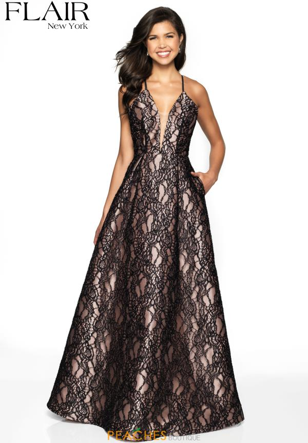 Flair V-Neck Lace Dress 19042