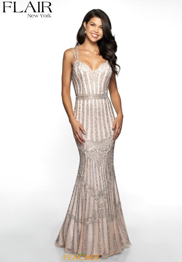 Flair Sweetheart Beaded Dress 19077