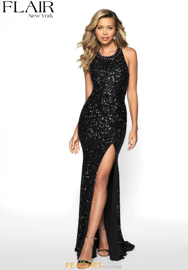 Flair High Neckline Sequins Dress 19083
