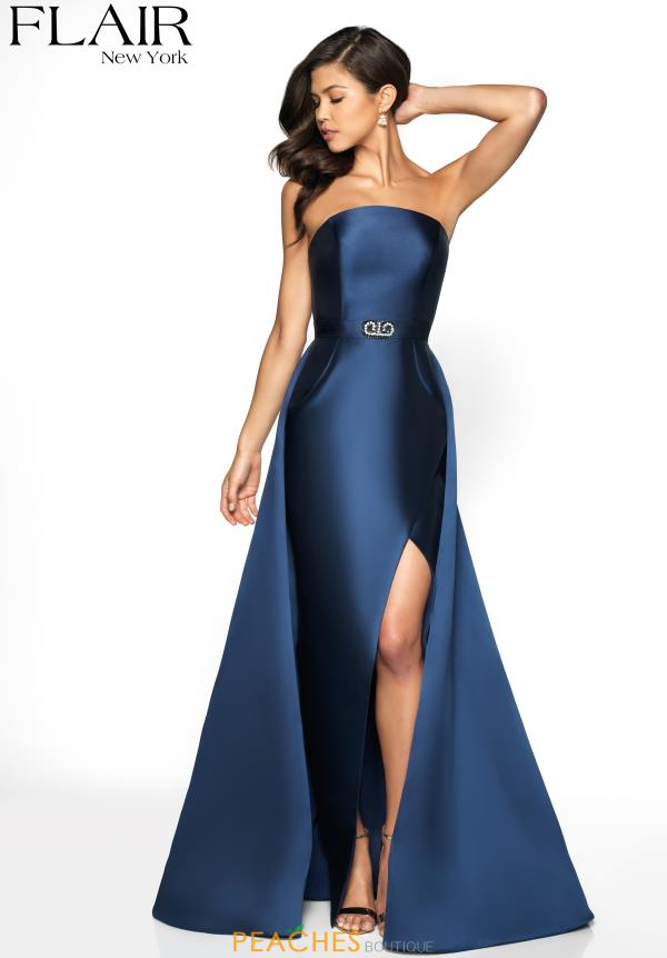 Flair Strapless Full Figured Dress 19089