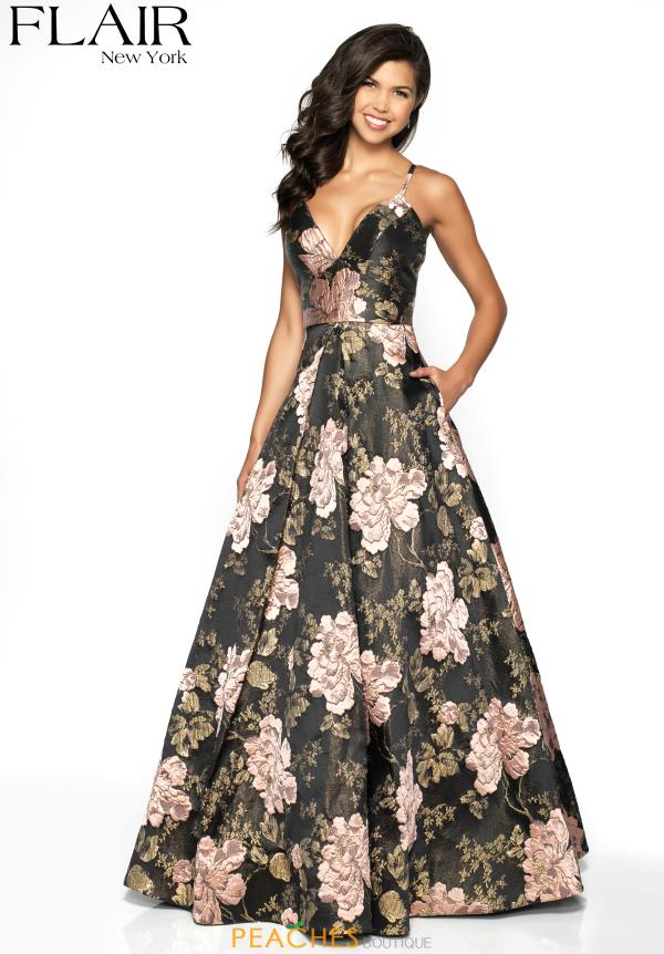Flair Strapless Full Figured Dress 19097