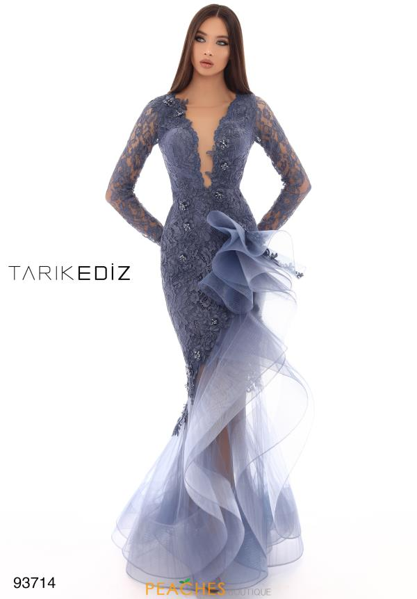 Tarik Ediz Long Sleeved Fitted Dress 93714