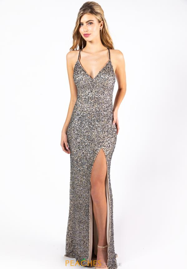 Primavera V-Neck Beaded Dress 3291