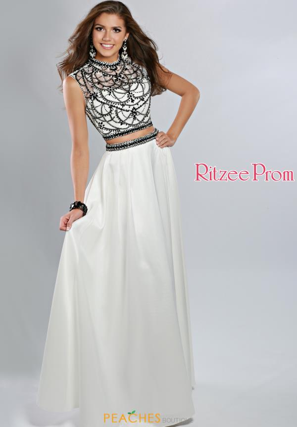 Ritzee High Neckline Satin Prom 1926