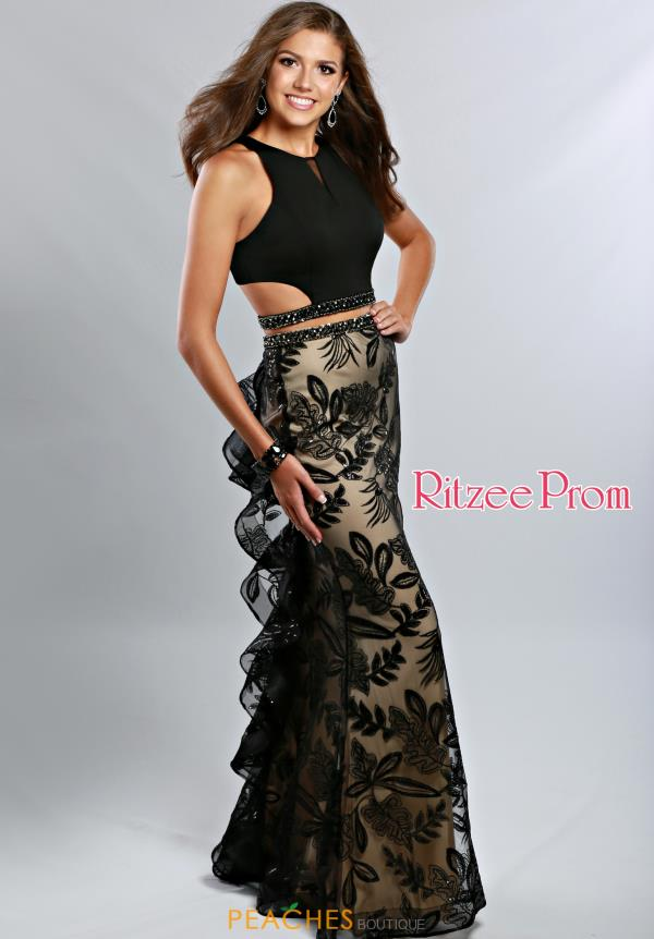 Ritzee Long Black Prom 1940