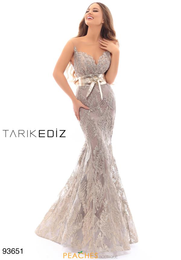 Tarik Ediz Mermaid Lace Dress 93651