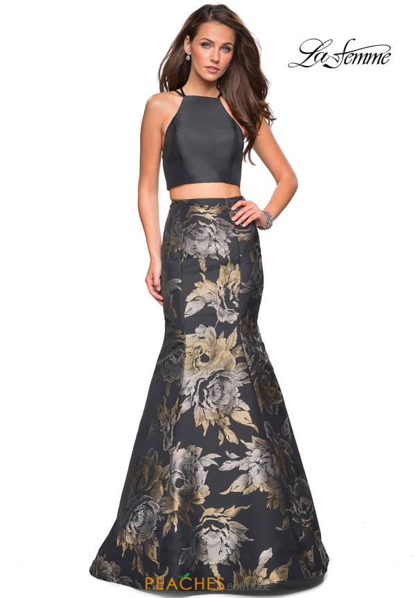 La Femme Two Piece Print Dress 27083