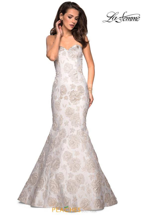 La Femme Long Lace Dress 27275