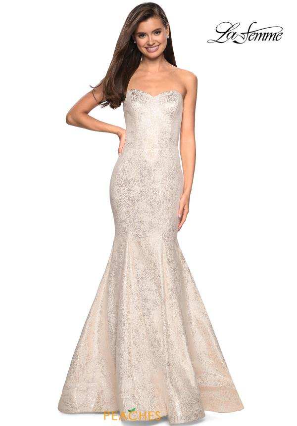 La Femme Starpless Fitted Dress 27789