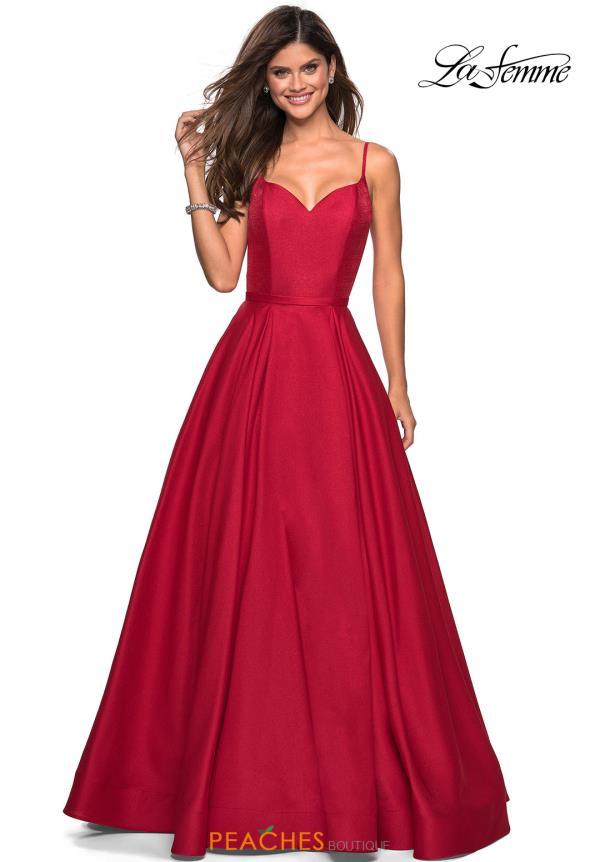 La Femme Prom Dresses Red