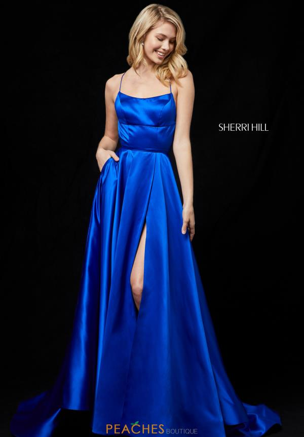 Sherri Hill Long Satin Dress 52095