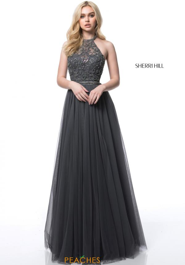 Sherri Hill Halter A Line Dress 51604