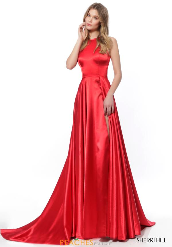 Sherri Hill Sleeveless Satin Dress 52120