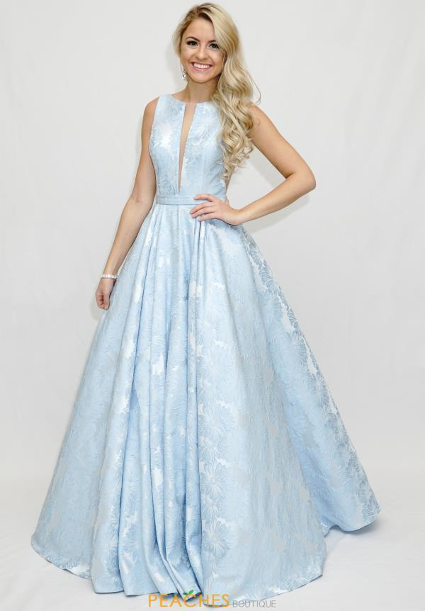 Sherri Hill High Neckline Long Dress 51703