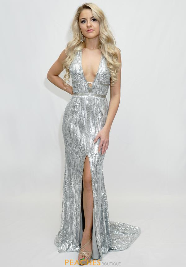 Sherri Hill V-Neck Beaded Dress 51752
