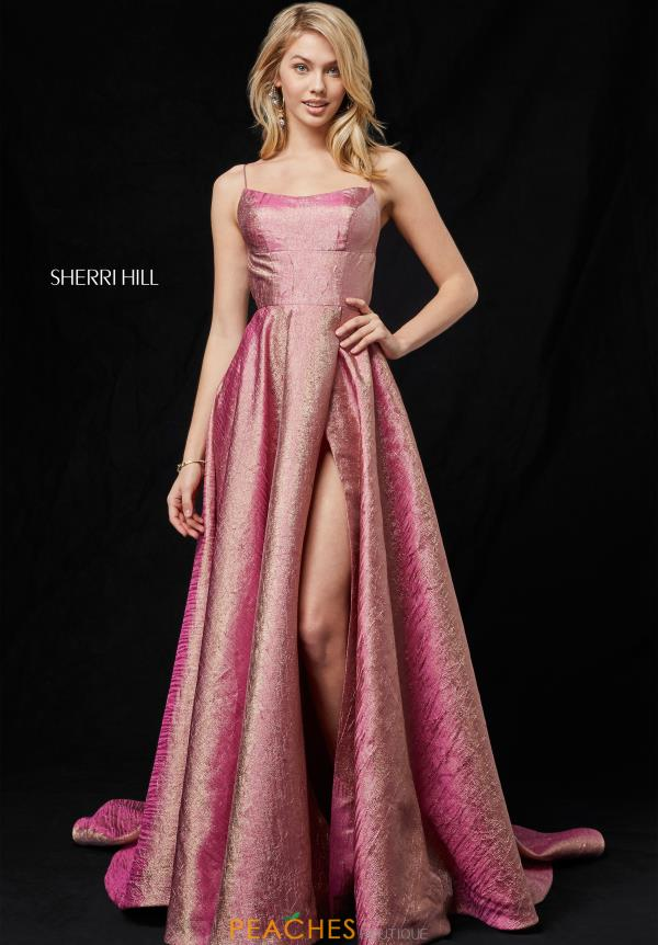 Sherri Hill Strapless A Line Dress 52140