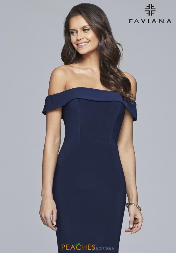 Faviana Off The Shoulder Jersey Dress S10162