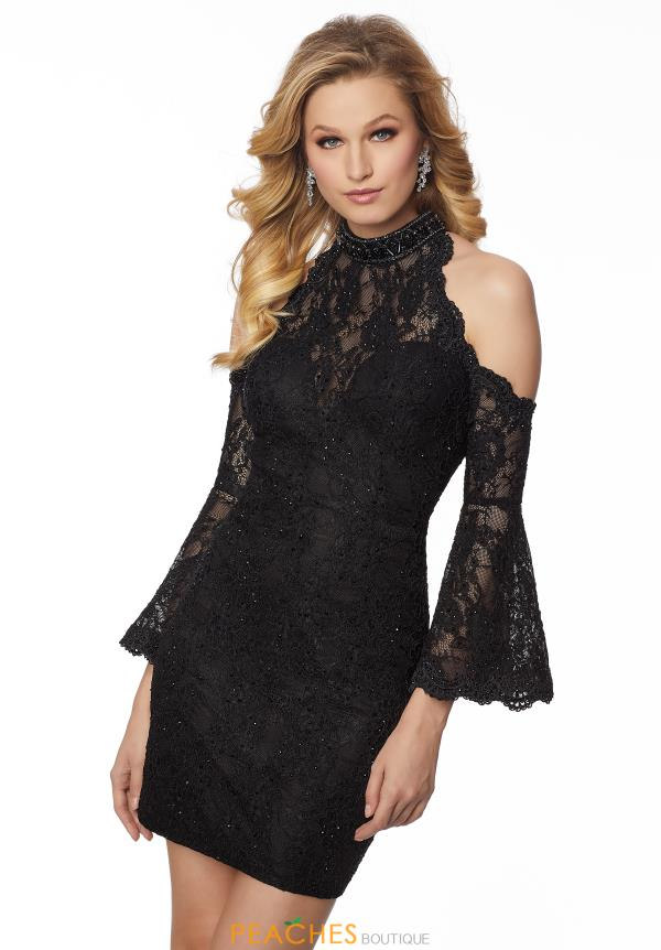 Mori Lee Sticks & Stones Sleeved Lace Dress 33057