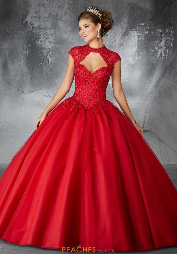 Valencia Quinceanera Beaded Long Gown 60058